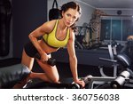 sporty attractive fitness woman ... | Shutterstock . vector #360756038