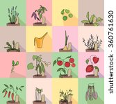 seamless pattern with growing... | Shutterstock .eps vector #360761630