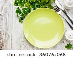 empty green plate and fresh... | Shutterstock . vector #360765068
