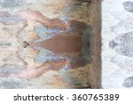 old weathered plaster wall with ... | Shutterstock . vector #360765389