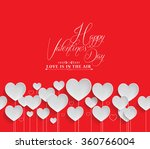 valentine's day background | Shutterstock . vector #360766004