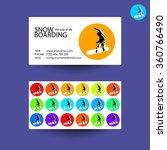 snowboarding freestyle.... | Shutterstock .eps vector #360766490