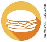 hamburger flat icon | Shutterstock .eps vector #360766508