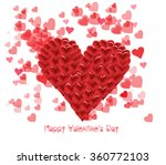 valentines day with heart shape | Shutterstock . vector #360772103
