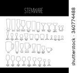 bartender s guide  stemware ... | Shutterstock .eps vector #360774488