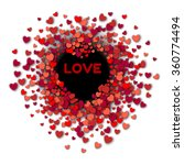 valentines day background with... | Shutterstock .eps vector #360774494