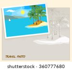 island in the sea and white... | Shutterstock . vector #360777680