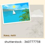 island in the sea and white... | Shutterstock . vector #360777758