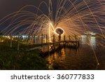 Spinning Wool Fire In Putrajay...