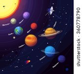 set of colorful planets and... | Shutterstock .eps vector #360778790