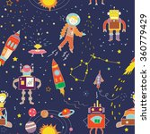 space funny seamless pattern... | Shutterstock .eps vector #360779429