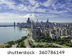 Chicago Skyline Aerial View...