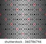 silver poker background with... | Shutterstock .eps vector #360786746