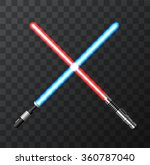vector modern light swords on... | Shutterstock .eps vector #360787040