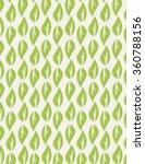 green leaf pattern over beige...   Shutterstock .eps vector #360788156