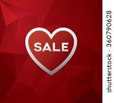 valentine sale banner template. ... | Shutterstock .eps vector #360790628