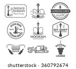 hookah labels  badges and... | Shutterstock .eps vector #360792674
