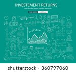 investment returns  concept... | Shutterstock .eps vector #360797060
