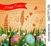 template easter card with... | Shutterstock .eps vector #360797138