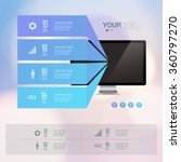 infographic design with... | Shutterstock .eps vector #360797270