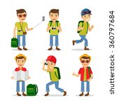 tourist travel character with... | Shutterstock .eps vector #360797684