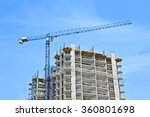 crane and building construction ... | Shutterstock . vector #360801698