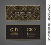 vintage ornamental gift... | Shutterstock .eps vector #360806420
