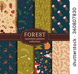 forest seamless patterns with... | Shutterstock .eps vector #360807830