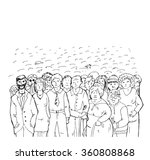a crowd of people  sketch... | Shutterstock .eps vector #360808868