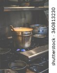 a big hot pot of panang thai... | Shutterstock . vector #360813230