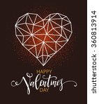 happy valentines day greeting... | Shutterstock .eps vector #360813914