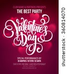 Valentines Day Party Flyer. Vector illustration EPS10 | Shutterstock vector #360814070