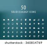 set of 50 universal ecology... | Shutterstock .eps vector #360814769