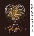 happy valentines day greeting... | Shutterstock .eps vector #360815810