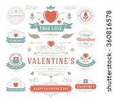 valentine's day labels and... | Shutterstock .eps vector #360816578