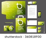 colorful corporate identity... | Shutterstock .eps vector #360818930
