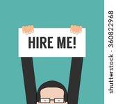 hire me | Shutterstock .eps vector #360822968
