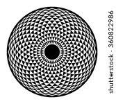 torus yantra  hypnotic eye... | Shutterstock .eps vector #360822986