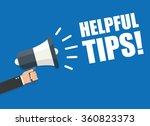 hand holding megaphone  ... | Shutterstock .eps vector #360823373