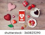 online dating concept with... | Shutterstock . vector #360825290