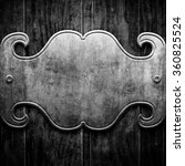 silver metal luxury plaque on... | Shutterstock . vector #360825524