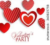 valentine's party invitation  | Shutterstock .eps vector #360825758