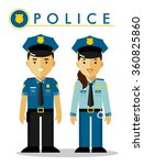 police officer in uniform.... | Shutterstock .eps vector #360825860