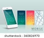 modern lock screen ui  ux and... | Shutterstock .eps vector #360826970