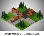 vector isometric illustration... | Shutterstock .eps vector #360828626