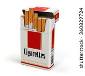 Cigarette Pack On White...