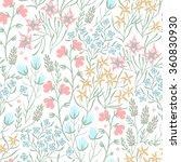vector floral seamless pattern...   Shutterstock .eps vector #360830930