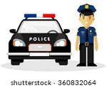 policeman officer in uniform... | Shutterstock .eps vector #360832064
