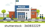 city police station department... | Shutterstock .eps vector #360832229