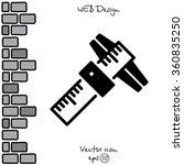 web line icon. caliper | Shutterstock .eps vector #360835250